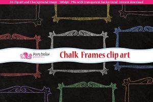Colorful Chalkboard frames clip art
