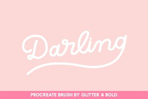 Darling Monoline Procreate Brush
