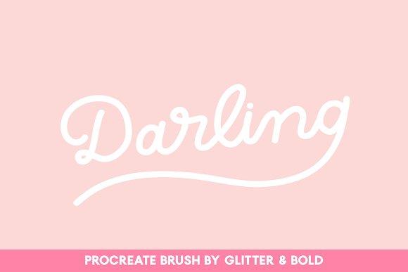 Darling Monoline Procreate Brush