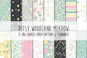 Ditsy Woodland Meadow Pattern