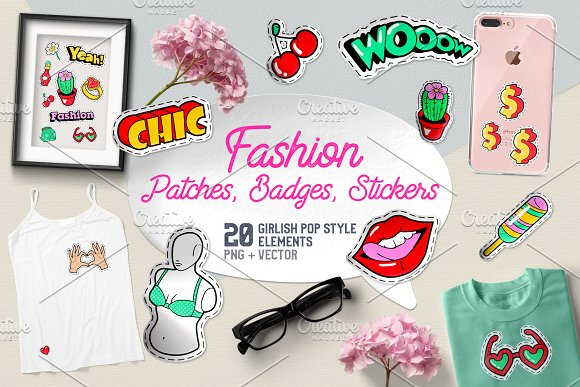 Fashion Badges Patches Stickers