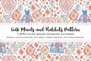 Folk Maids & Rabbits Patterns
