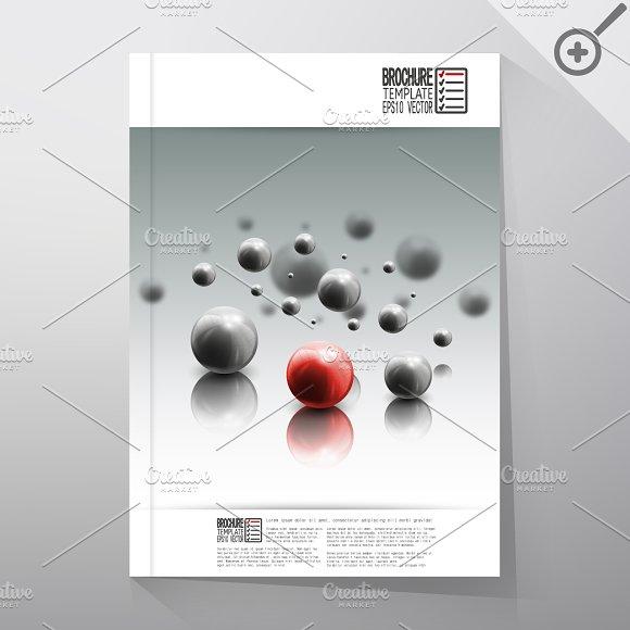 Science brochure template illustrations on creative market for Science brochure template