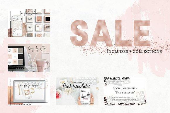 Sale - 5 store bundles social media