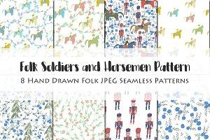 Folk Soldiers & Horsemen Pattern
