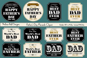 Father's Day Placard Clipart