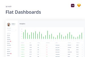 Flat Dashboards UI Kit