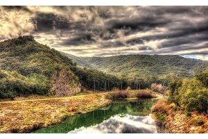 Hills over the Gardon river - France, Languedoc-Roussillon