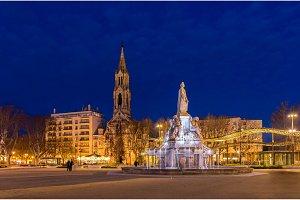 Esplanade Charles De Gaulle, a square in Nimes, France