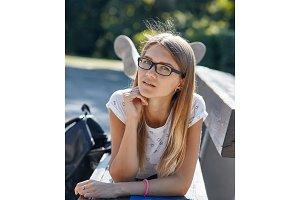 Portrait of student girl.