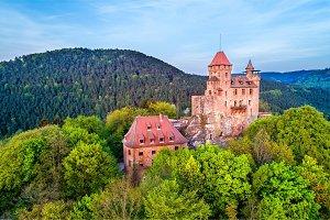 Berwartstein Castle in the Palatinate Forest. Rhineland-Palatinate, Germany