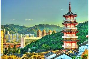 Pagoda at Po Fook Hill Columbarium in Hong Kong