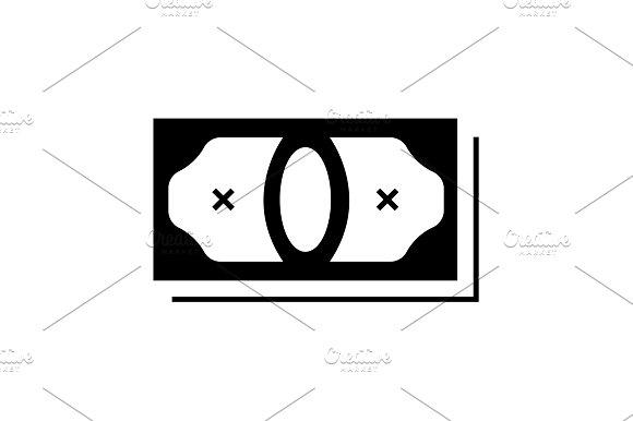 Vector Money Icon Black On White