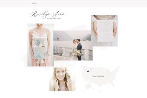 Roselyn June Wix Template