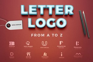 Letter logos template from a to z