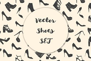 Vector shoes set