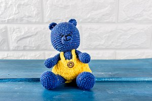 handmade knitted bear