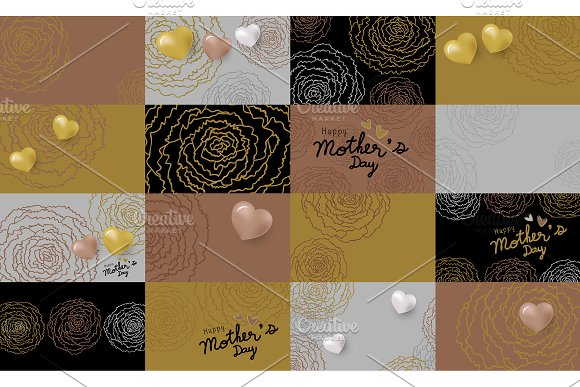 Set Of Mother's Day Card Design