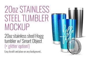 20oz Stainless Hogg Tumbler Mockup
