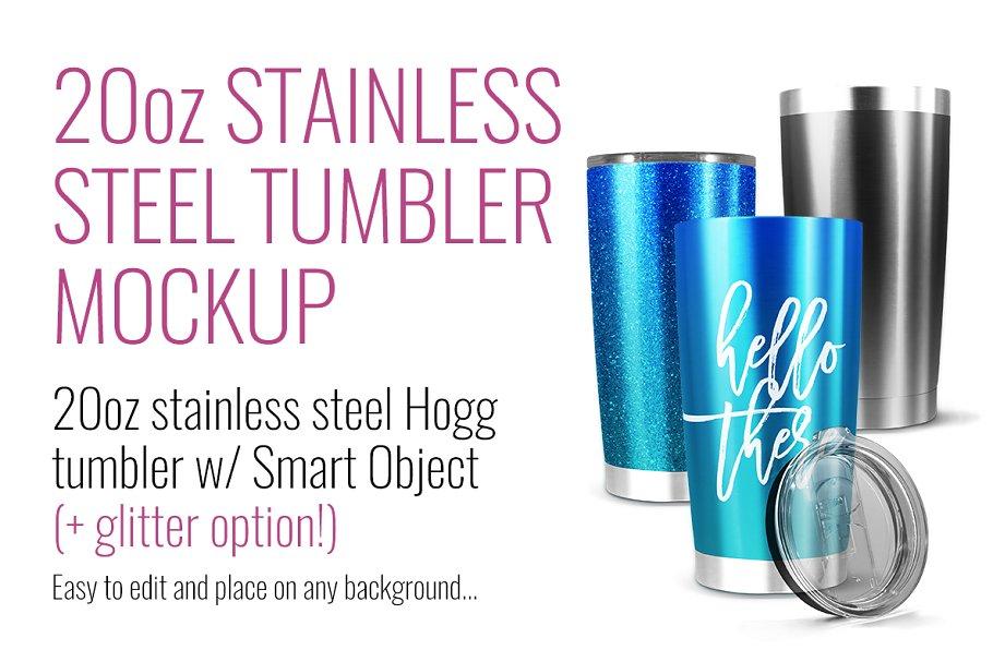 fcf6d38de4a 20oz Stainless Hogg Tumbler Mockup ~ Product Mockups ~ Creative Market