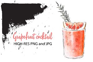 Grapefruit & rosemary cocktail