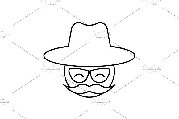 Man With A Mustache And A Hat Icon