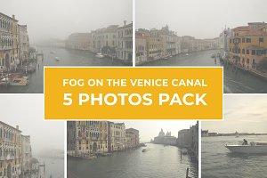 5 Photos Pack - Fog On Venice Canal