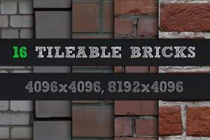 16 Tileable Bricks Textures