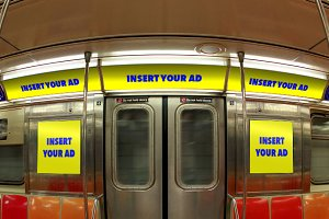 NYC MTA Subway Interior Ad Mockup