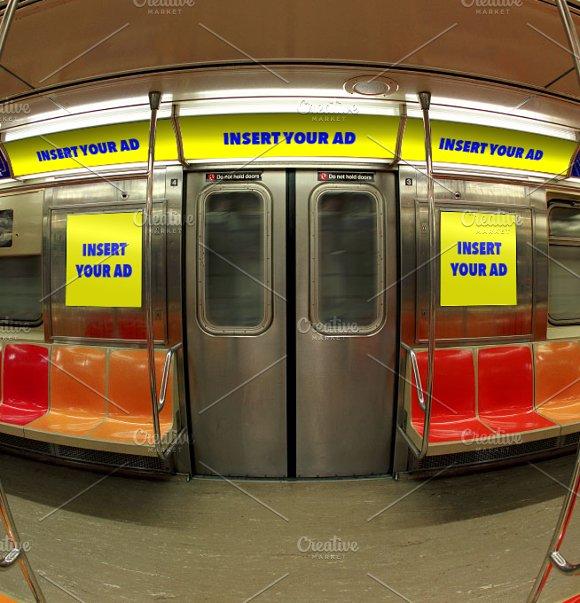 NYC MTA Subway Interior Ad Mockup