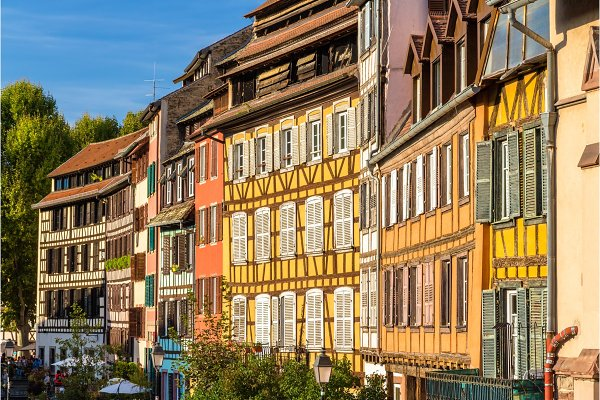Architecture Stock Photos: Leonid Andronov - Alsatian half-timbered houses in Strasbourg