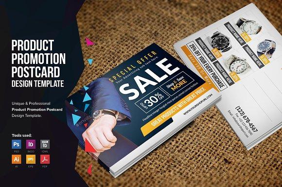 Product Promotion Postcard Design
