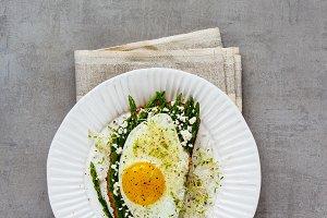 Greens spring sandwich
