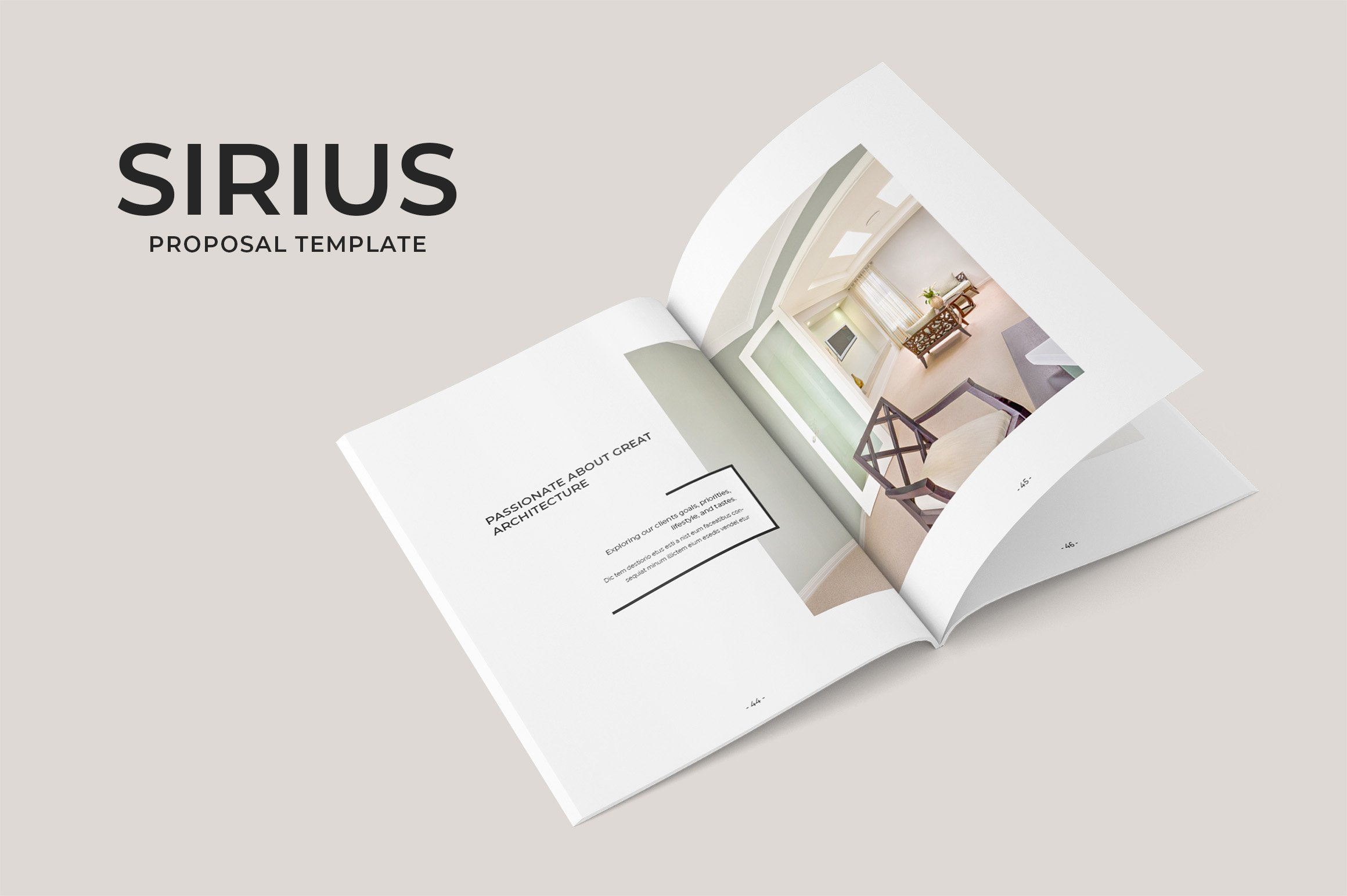 Sirius Proposal Template Brochure Templates Creative Market