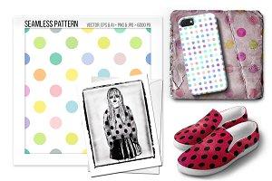 Seamless polka dot pattern.