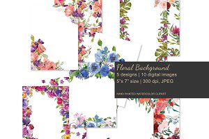 Watercolor Floral Invitation Backgro