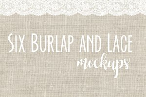 SALE Lace and Burlap Mockup