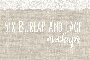 Lace and Burlap Mockup