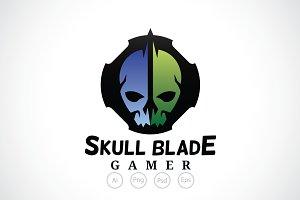 Skull Blade Gamer Logo Template