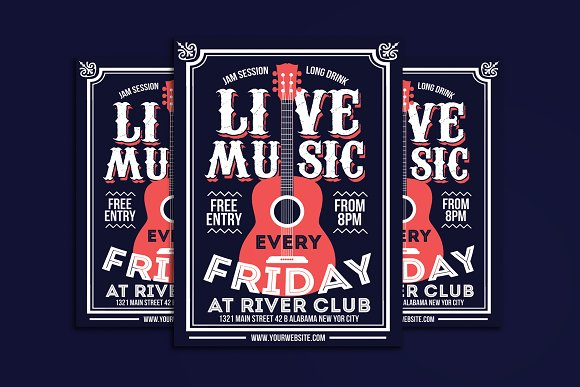 Live Music Poster Flyer