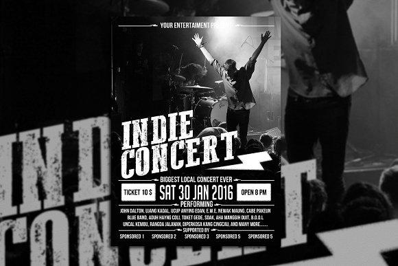 Indie Concert Poster Flyer