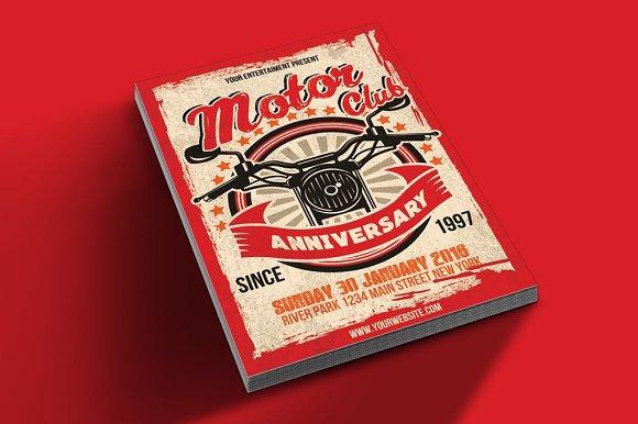 Motor Club Anniversary Event Poster