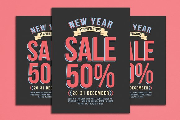 New Year Sale Flyer
