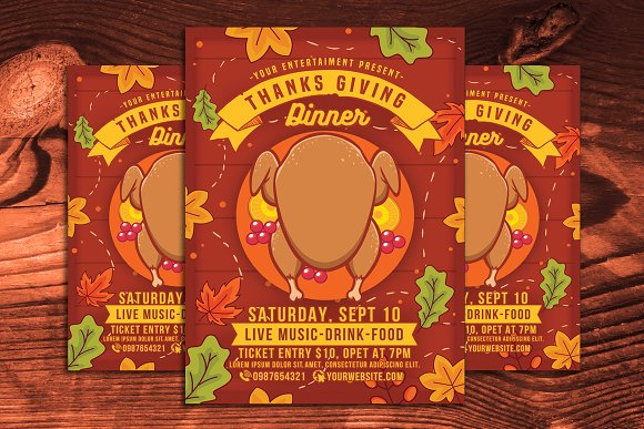 Thanksgiving Day Dinner Flyer