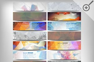 Colored abstract headers set
