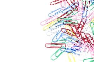 multi-colored paper clips