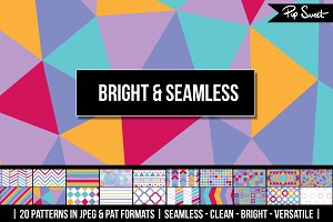 20 Bright & Seamless Patterns
