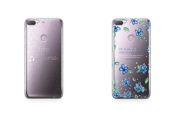 HTC Desire 12 Plus UV PC Clear Case