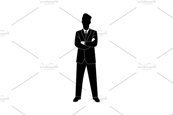 Businessman Crossing His Hands Icon
