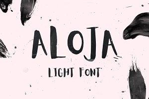Aloja Light Handwriting Font